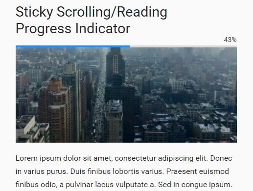 Sticky Scrolling/Reading Progress Indicator With jQuery