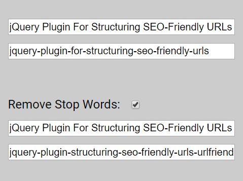 jQuery Plugin For Structuring SEO-Friendly URLs - UrlFriendlyBox.js
