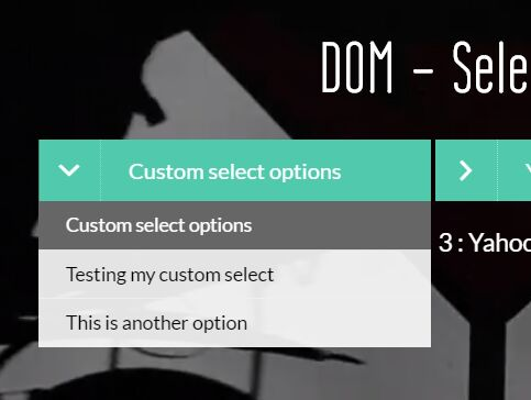 Stunning Animated Select Element Replacement - jQuery dom-selectizing