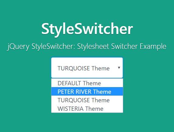 Theme/Stylesheet Switcher With jQuery And Local Storage - styleSwitcher