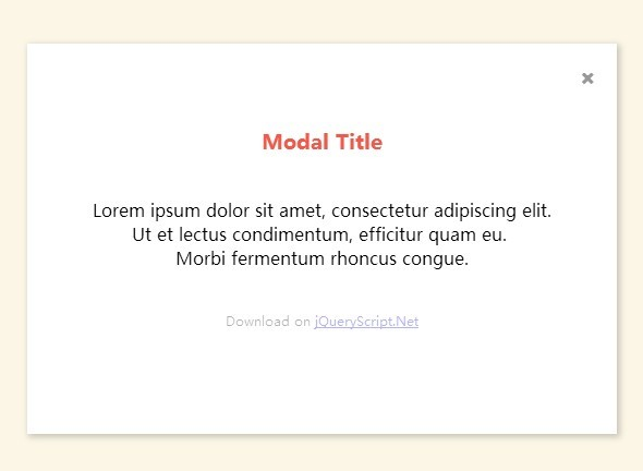 Stylish Animated Modal Window with jQuery and CSS3