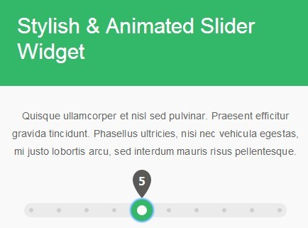Stylish & Animated Slider Widget with jQuery and jQuery UI