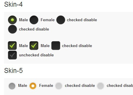 Stylish Checkbox & Radio Buttons Replacement Plugin with jQuery - asCheck