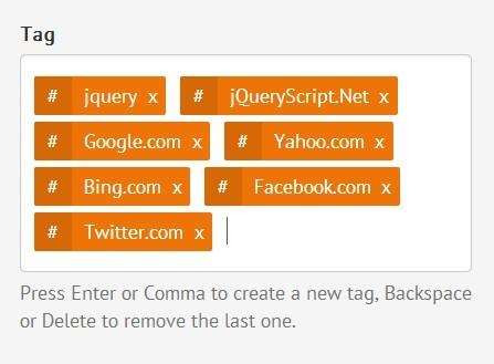 Stylish & Customizable jQuery Tags Input Plugin - taggingJS