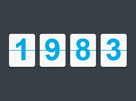 Stylish Incremental Counter Plugin with jQuery