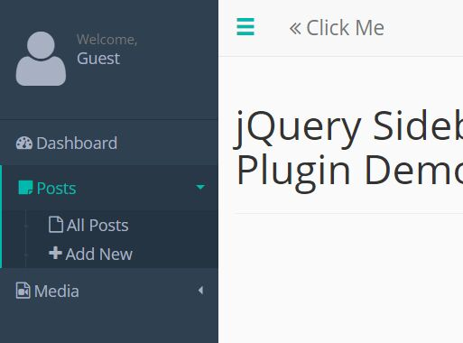 Stylish Off-canvas Sidebar Plugin With jQuery - Sidebar.js