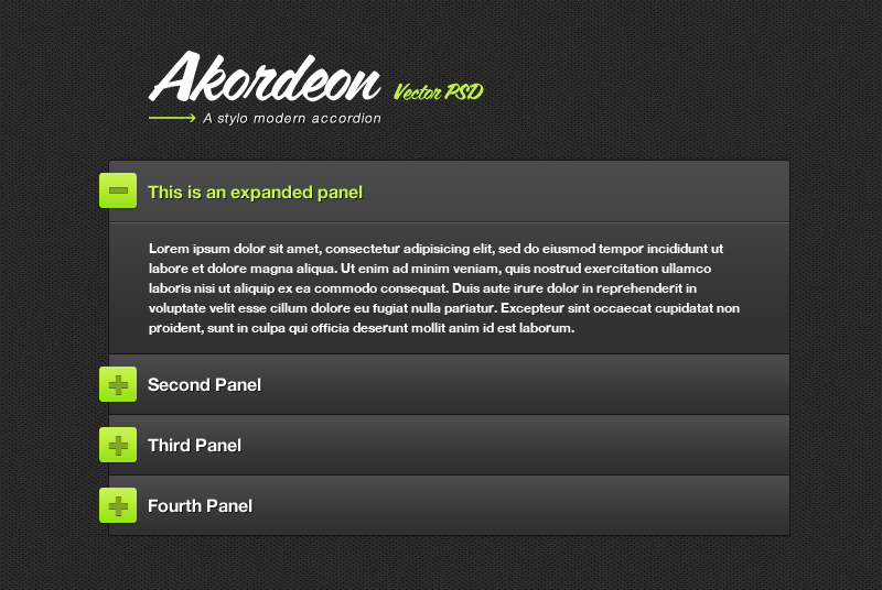 Akordeon - Stylish jQuery Accordion Plugin