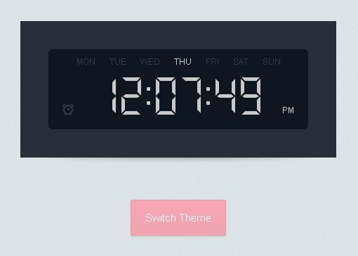 Stylish jQuery and CSS3 Based Digital Clock