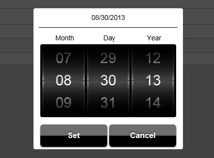 Stylish Jquery Date And Time Picker For Mobile Devices