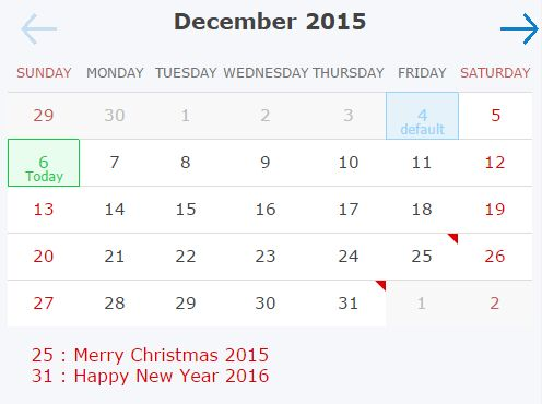Super Simple Event Calendar Plugin For jQuery - dnCalendar