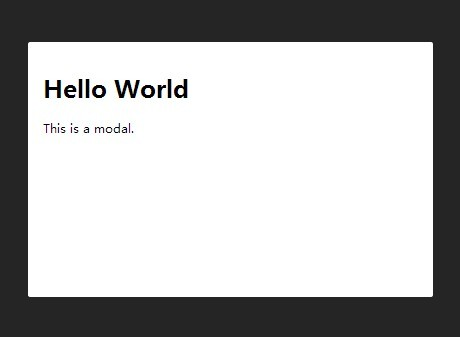 Super Simple jQuery Based Modal Window - Overlay.js