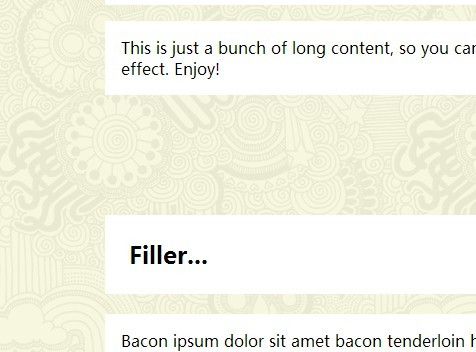 Super Simple jQuery Based Parallax Scrolling Effect