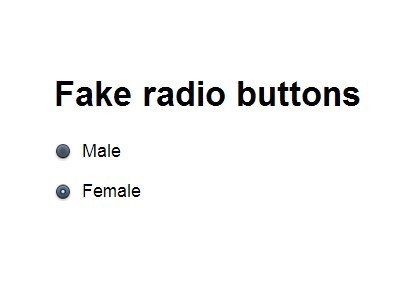 Super Simple jQuery Radio Button Replacement Plugin - Radio Button