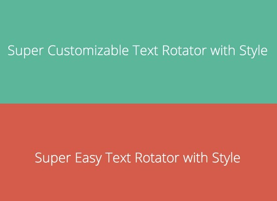 Super Simple jQuery Text Rotator Plugin