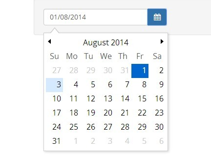 Super Tiny jQuery & HTML5 Date Picker Plugin