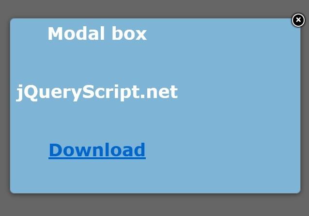 Super Tiny jQuery Popup Modal Plugin - justPopup