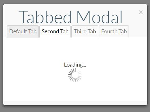 Tabbed Bootstrap Modal Plugin With jQuery - Tab Modal
