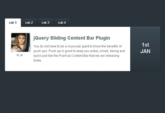 Tabbed Content Slider Plugin with jQuery and XML - tNews