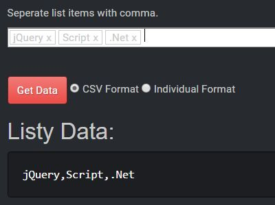 Easy Tag Editing Control With jQuery - listy-text