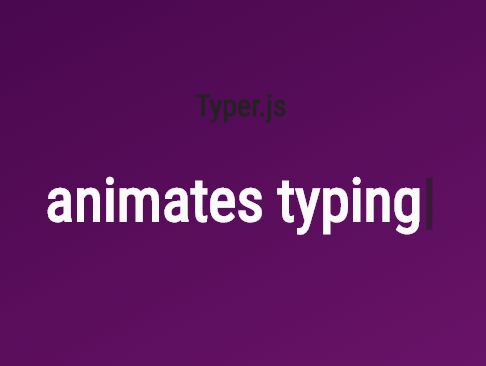 Dynamic Text Rotator With Typing Effect - jQuery typer.js