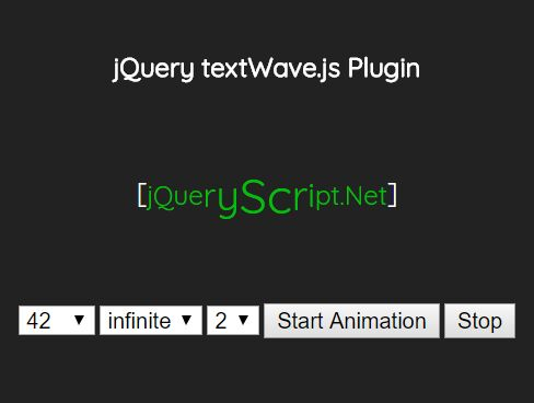 Configurable Text Wave Effect In jQuery - textWave.js