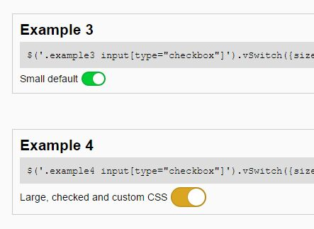 Themeable Checkbox Switch Plugin With jQuery - vSwitch