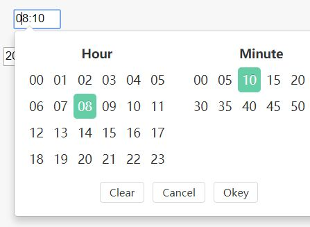 Minimal Clean Time Picker Plugin - jQuery chungTimePicker