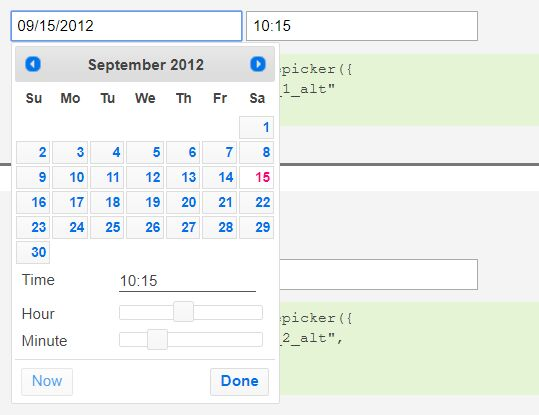 Clean date time picker with jquery and bootstrap 3 free jquery customizable time picker for jquery ui datepicker timepicker addon malvernweather Choice Image