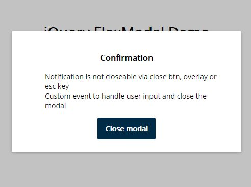 Tiny Flexible Modal & Dialog Plugin With jQuery - flexModal