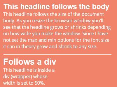 Tiny Responsive jQuery Text Resizing Plugin - Responsive Headlines