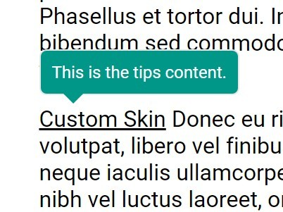 Tiny Skinnable jQuery Tooltip Plugin - Tips