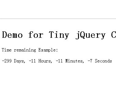 Tiny jQuery Countdown Timer Plugin