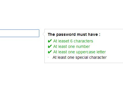 Tiny jQuery Password Strength Checker - passwordstrength.js