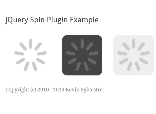 Tiny jQuery Plugin For Animated Loading Spinners - Spin