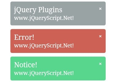 Tiny jQuery Plugin For Informative Messages In The Browser - Growler