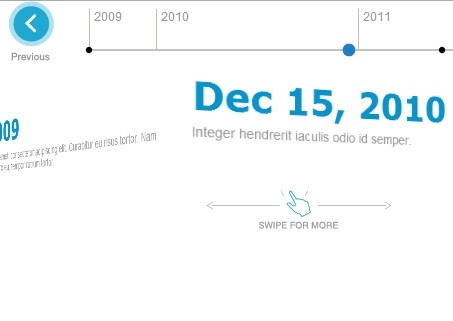 Touch-enabled jQuery Timeline Plugin with 3D Flipping Effects - Timecube