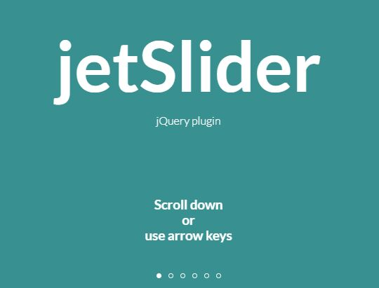 Transition Between Pages With Scroll, Swipe, And Keyboard - jetslider