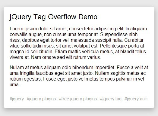 Tumblr-Like Draggable Tag Bar with jQuery and CSS3 - Tag Overflow
