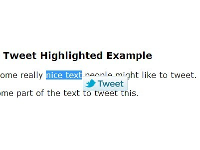 Minimalist jQuery Tweetable Text Plugin - Tweet Highlighted