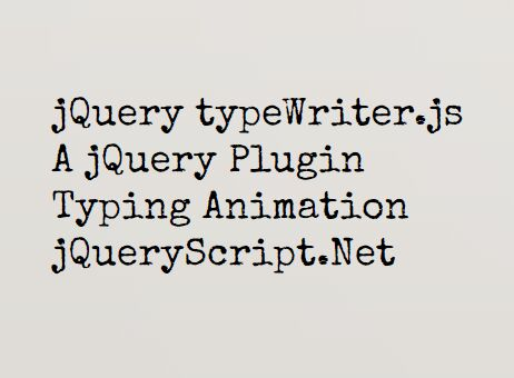 jQuery Plugin For Configurable Text Typing Animation - jtap js
