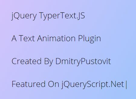 Add Typing Effect To Existing Text - jQuery TyperText.JS