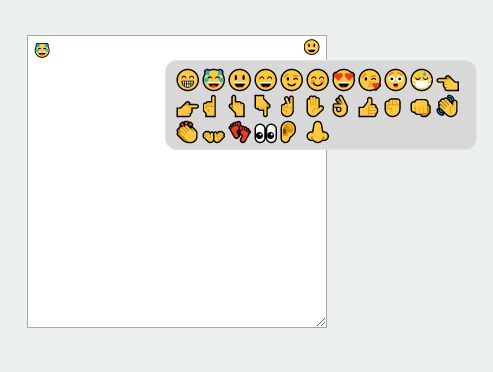 Basic Unicode Emoji Picker With No Images - jQuery emojiFace