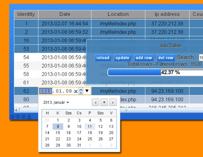 Html table row link phpsourcecode net for Hide table th jquery
