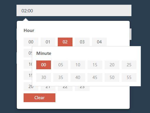 User-friendly 24-Hour Time Picker Plugin For jQuery - hunterTimePicker