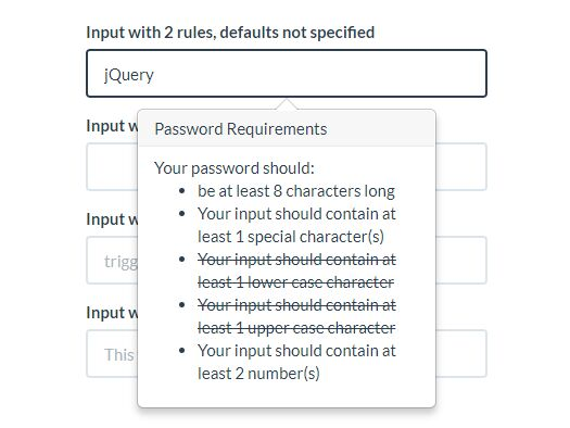 Validate If A Password Meets Certain Requirements