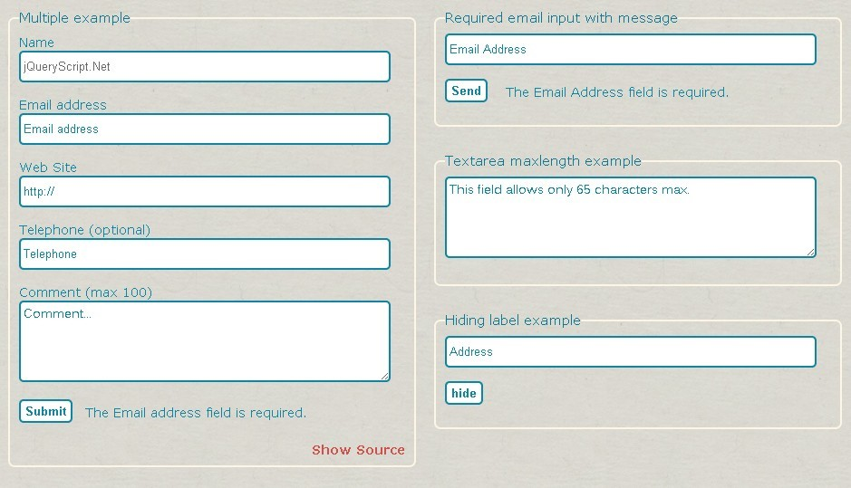 Versatile HTML5 Form Verification Plugin - html5form