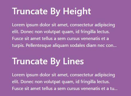 Versatile Responsive Text Truncation Plugin For jQuery - Truncate.js