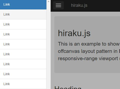 Versatile jQuery Offcanvas Menu Plugin With jQuery - Hiraku