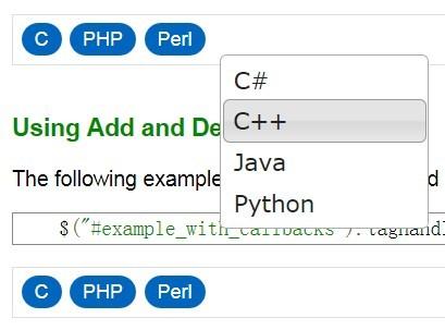 Versatile jQuery Tags Input Plugin - Tag Handler