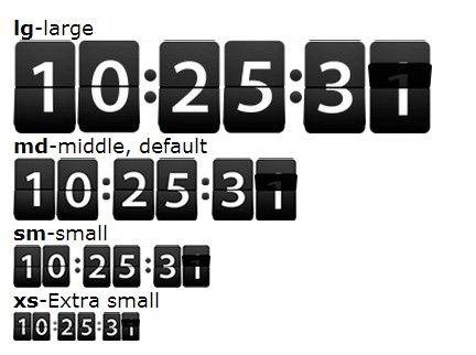 Vintage Flip Clock Style Countdown & Timer Plugin For jQuery - flipcountdown